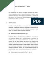 Especificaciones Tecnicas de FILTROS TIPO 1 Y TIPO 2