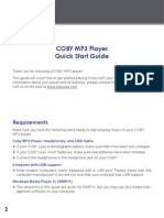 Coby MP3 Player Quick Start Guide