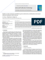 Studies on the Treatment of Brilliant Green Solution by Combination Microwave Induced Oxidation w