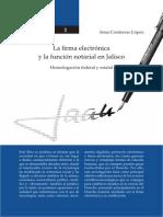 1- La firma electrónica y la función notarial en Jalisco