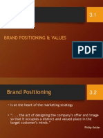 Positioning in Building brand equity