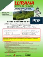 XXXII CAMINADA POPULAR VALLIRANA 2013