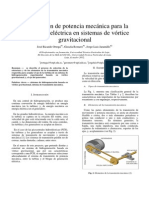 transmisión de potencia mecánica para la generación eléctrica en sistemas de vórtice gravitacional