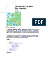Istema de Coordenadas Universal Transversal de Mercator