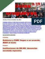 Noticias Uruguayas Viernes 8 de Noviembre Del 2013