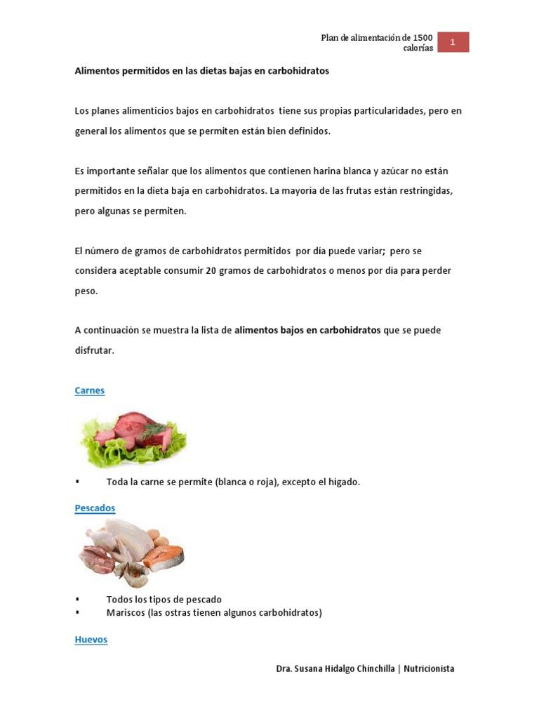 plan de comidas de menos de 20 carbohidratos al día
