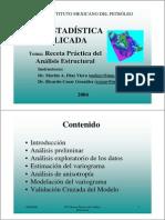 GEOESTADÍSTICA APLICADA, RECETA PRÁCTICA DEL ANÁLISIS ESTRUCTURAL