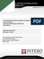 Fremont Full Market Report (Week of Nov 4, 2013)
