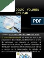 ANÁLISIS COSTO – VOLUMEN - UTILIDAD