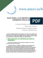 GUÍA PARA LA ELABORACIÓN DEL HERBARIO ESCOLAR