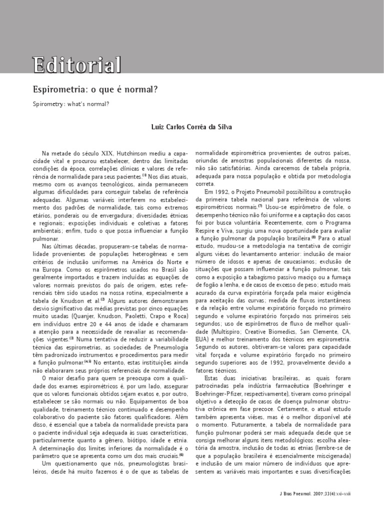 Valores Normales De Espirometria Ebook