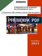 Comparado Energía Candidatos a la Presidencia 2013 FINAL