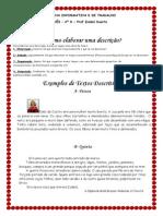 Ficha Informativa e de Trabalho Sobre Textos Descritivos e Retrato