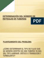 DETERMINACIÓN DEL NÚMERO DE REYNOLDS EN TUBERÍAS