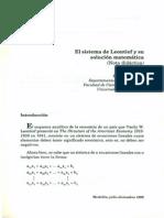 Sistema de Leontief y su solución matemática
