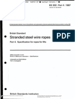 Bs 302-Part4-1987(Specification of Ropes for Lifts)