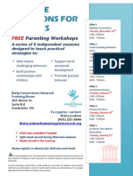 Montgomery County, TN Positive Solutions for Families Workshops Nov. 2013 - Jan. 2014