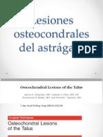 Lesiones osteocondrales del astrágalo