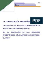 La Radio. Comunicación Radiofónica.