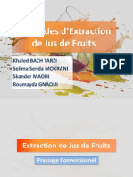 Extraction de Jus de Fruits