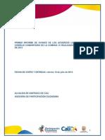 Primer Informe de Seguimiento Comuna 15
