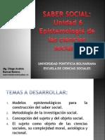 Unidad 6 Epistemología de las Ciencias Sociales