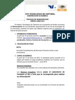 Proceso de Reinscripcion Ene-jun 2013 2