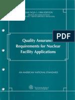 NQA 1 1994 QA Requirements