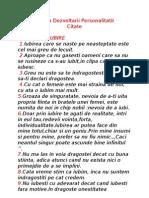 Stiinta Dezvoltarii Personalitatii - Citatele by George Mihaiu
