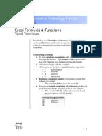 Excel Formulas Manual