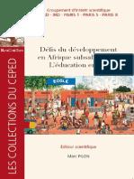 Defis du developpement subsaharienne - l'éducation en jeu