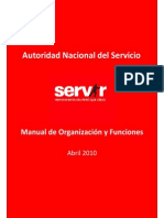 Manual de Procesos y Funciones MOF