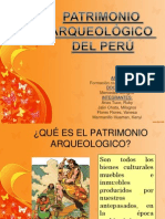 PATRIMONIO ARQUEOLÓGICO DEL PERÚ