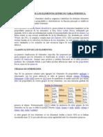 CLASIFICACIÓN DE LOS ELEMENTOS QUÍMICOS