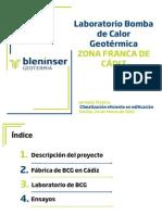 Jornada Tecnica Climatizacion Eficiente en Edificacion Laboratorio Bomba de Calor Geotermica Zona Franca de Cadiz