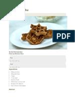 Archi Murukku Recipe