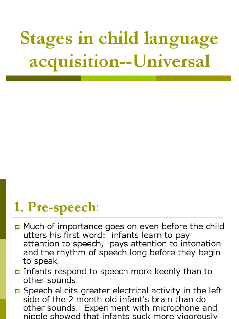 child acquisition stages