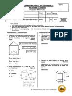 Examen Mensual de Geometria - 3ro de Sec