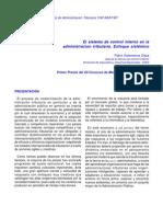 El Sistema de Control Interno en La Administracion Tributaria Enfoque Sist%C3%A9mico