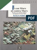 157870437 Bobbio Norberto 1997 Ni Con Marx Ni Contra Marx