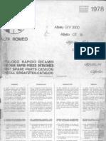 Alfetta European Short Parts Manual