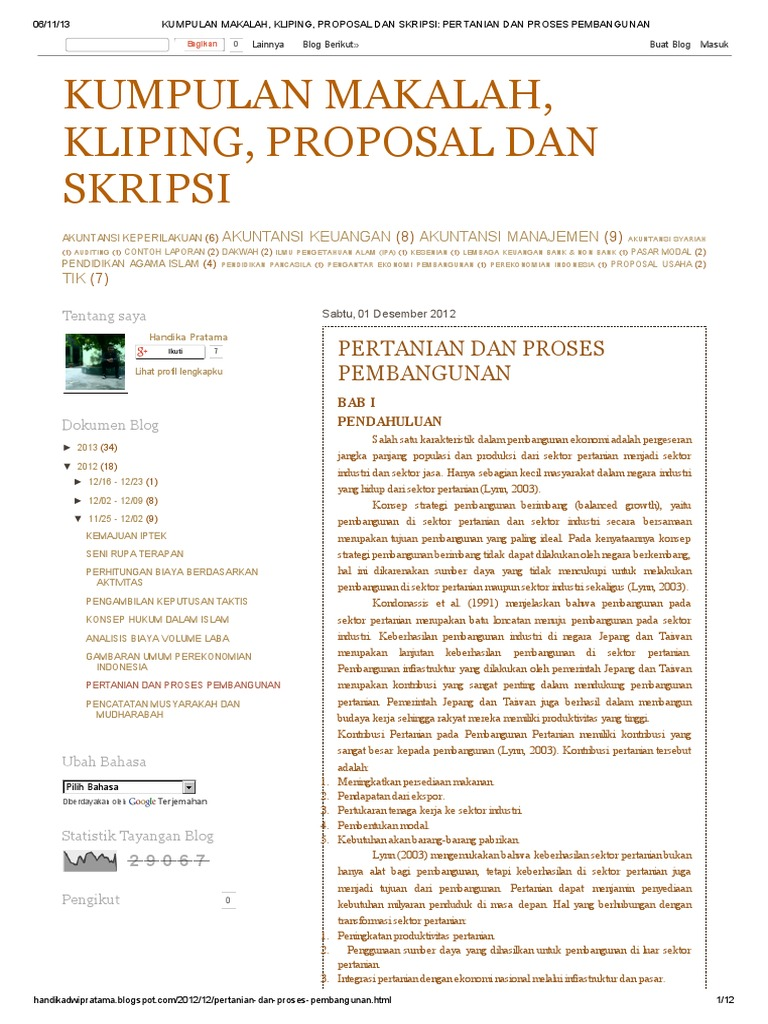 Kumpulan Makalah Kliping Proposal Dan Skripsi Pertanian Dan