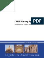 Wisconsin DCF Audit Child-Placing Agencies Oct 2013