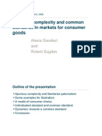 Spurious complexity and common standards in markets for consumer goods
