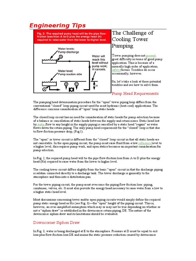Engineering Tips Cooling Tower Doc Pump Pressure