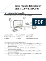 HUAWEI HG530 Home Gateway Quick Start-Spanish