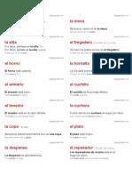 Spanish language labels (Size