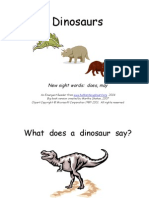 Dinosaurs Sight Words