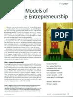 The Four Models of Corporate Entrepreneurship