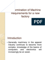 Determination of Machine Requirements for a new factory.ppt